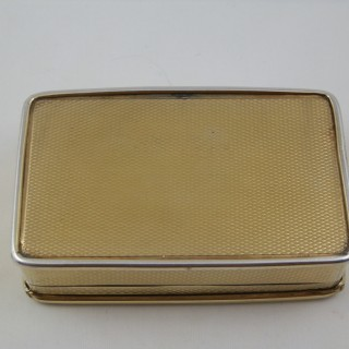 A rare George III silver gilt table snuff box. London 1812