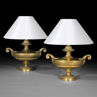 Pair of Regency Style 'Grand Tour' Table Lamps