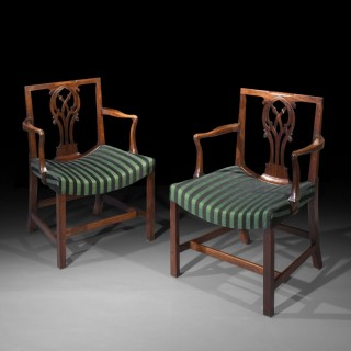 Pair of George III Open Armchairs