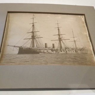Albumen Photograph of a Battleship