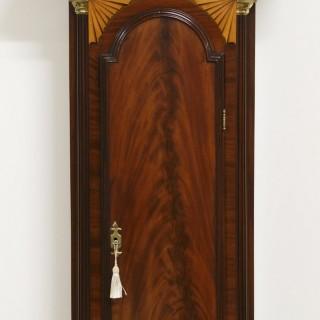 Georgian Mahogany Longcase Clock by Mummery, Dover