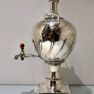 Mid 18th Century Antique George III Sterling Silver Tea Urn London 1767 Francis Crump