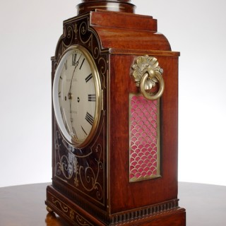 George III Mahogany  English Fusee Bracket Clock by William Chater, London