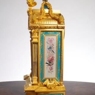 Victorian Ormolu and Porcelain Mantel Clock