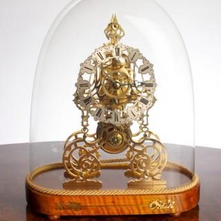 Victorian English Fusee Skeleton Clock