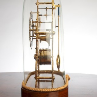 Victorian English Fusee Skeleton Clock