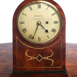 Regency Mahogany English Fusee Bracket Clock by Memmes, London