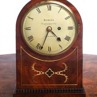 Regency Mahogany English Fusee Bracket Clock by Memmes, London