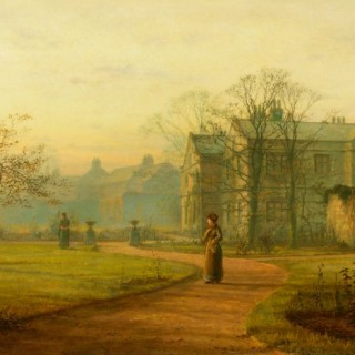 Two Ladies at Dusk at Knostrop Hall, 1898