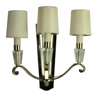 A SINGLE DECO WALL LIGHT