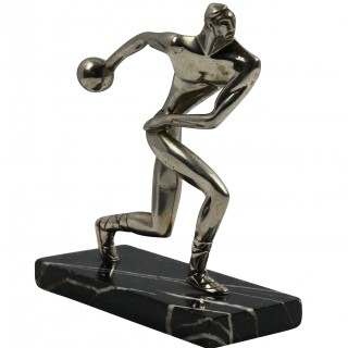 A GERMAN STATUE OF AN OLYMPIAN
