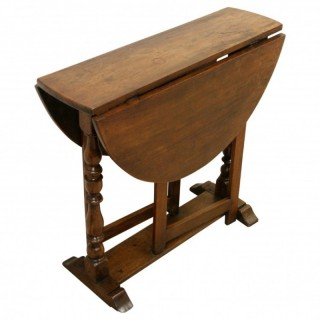 Charles II Fruitwood Gate Leg Table