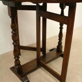Charles II Fruitwood Gate Leg Table
