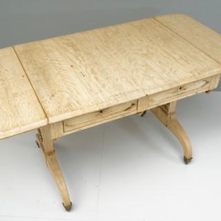 Oak sofa table