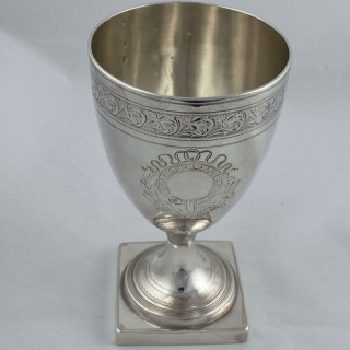 Antique silver George III Goblet made in 1798 by Solomon Hougham London