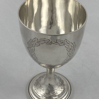 Antique silver goblet 1877 Stephen Smith of London