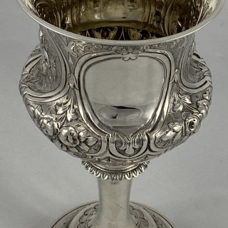An Antique Sterling Silver Victorian goblet made in 1869 by George Unite of Birmingham