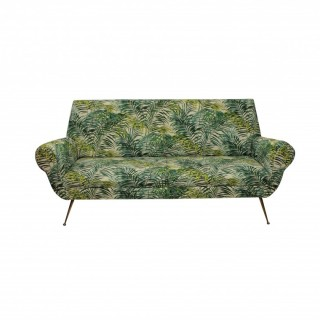 A GIGI RADICE FOR MINOTTI SOFA IN PALM PRINT LINEN