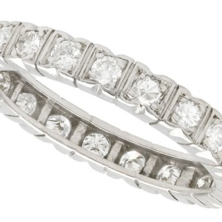 0.56ct Diamond and Platinum Full Eternity Ring - Vintage Circa 1950