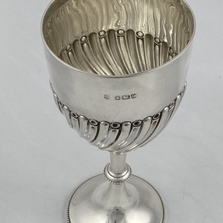 Antique Sterling silver Victorian Goblet made in 1891 by Gibson and Langman of Sheffield