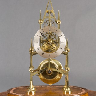 Early Victorian Skeleton Clock by Dell, Bristol
