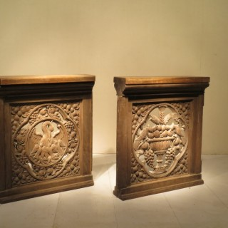 / 19th Century Gothic Revival Oak Altar Gates
