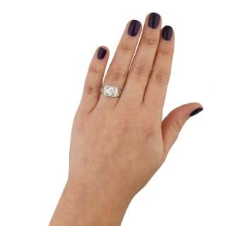 Art Deco diamond solitaire ring, circa 1930.