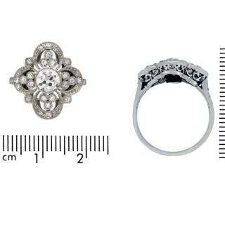 Belle Époque diamond ring, French, circa 1905.