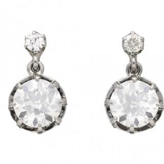 Belle Époque diamond drop earrings, circa 1905.