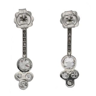 Edwardian diamond drop earrings, circa 1915.