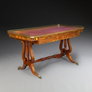 A George IV Rosewood Writing Table
