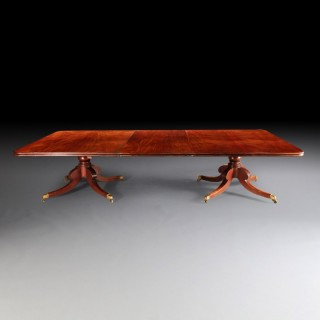 An Irish Twin Pedestal Dining Table