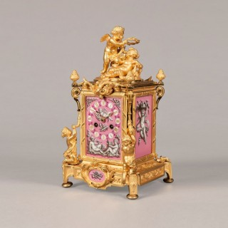 French Ormolu Carriage Clock in the Louis XV Manner