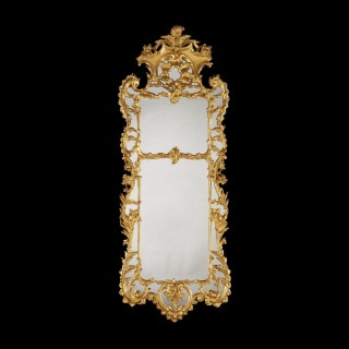 A Large Antique Giltwood Mirror in the Mid-Eighteenth Century Manner