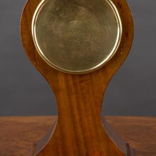 Edwardian French  Mahogany Balloon Mantel Clock