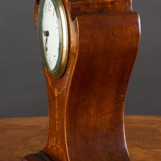 Art Nouveau Mahogany Cased French Balloon Mantel Clock