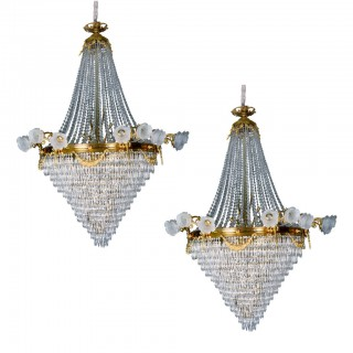 Pair of 19th Century French Chandeliers