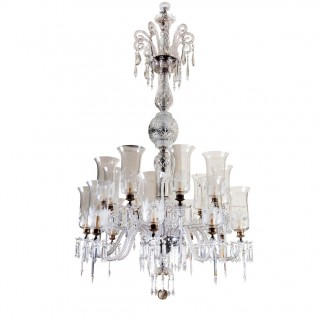 19th Century Victorian Cut Glass 18 Light Chandelier