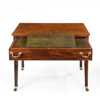 A George III free-standing mahogany architect's desk