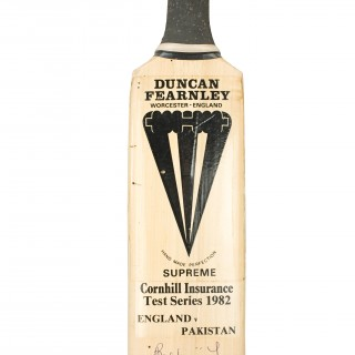 Vintage Autographed Duncan Fearnley Cricket Bat, England V Pakistan 1982.