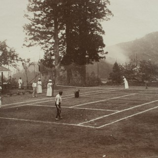 Tennis Photograph, Colonial