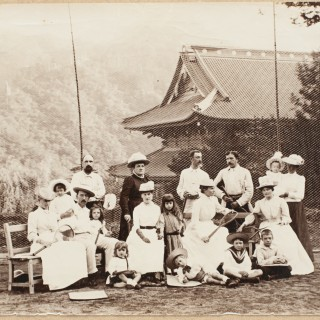 Tennis Photograph, Colonial Scene