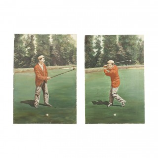 Golf Painting Of Jack White Of Sunningdale. Golf Pro And Club Maker.