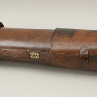 Antique Leather Fishing Rod Case