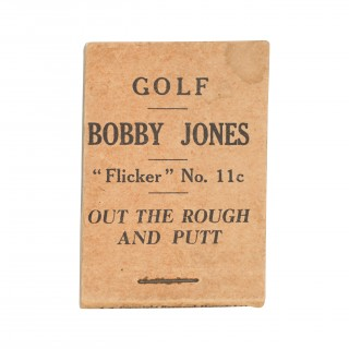 Original Bobby Jones Flicker Book, No. 11C. Out The Rough And Putt.