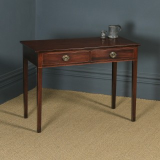 Antique English Georgian Regency Mahogany Occasional Hall / Side Table (Circa 1810)