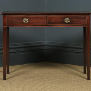 Antique English Georgian Regency Mahogany Occasional Hall / Side Table (Circa 1810)