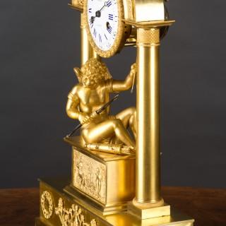 French Charles X Ormolu Mantel Clock