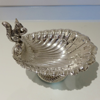 Antique Edwardian EPNS Silver-Plate Squirrel Nut Dish Circa 1900