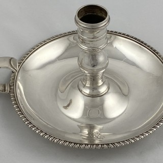 Antique Sterling George III Silver chamberstick made in 1805 by William Frisbee of London
